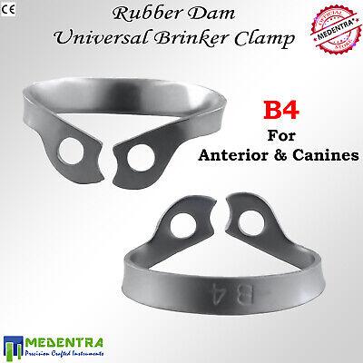 Brinker Rubber Dam Clamps Dental B4,B5,B6 pour digue de caoutchouc 3PCS 2