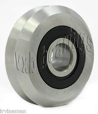 "RM2-2RS 3//8/"" V Groove Roller Bearing Rubber Sealed Line Track 8PCS"