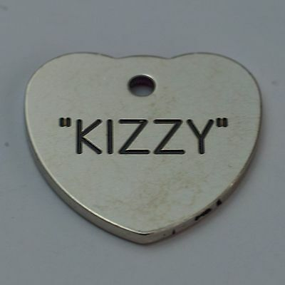 Quality Engraved Pet tag  - Mini  20mm Heart Nicron tag 3