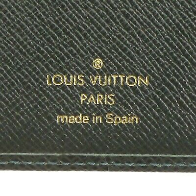 Auth LOUIS VUITTON Agenda Poche Day Planner Cover Green Leather R20425 #f30479 11