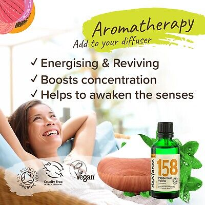Naissance Peppermint Piperita Organic Essential Oil for Use in Aromatherapy 2
