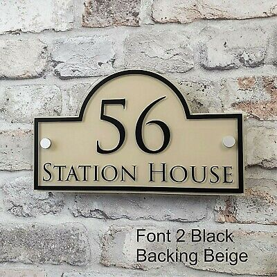 Contemporary House Address Plaques & Door Number Signs Personalised Name Plate 9