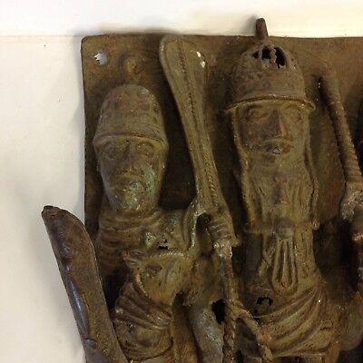 Benin Kola Nut Box-African Nigerian Tribal Art 35mm Slide Bronze Plaque