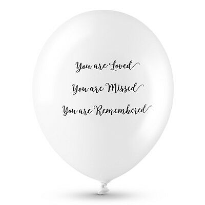 Angel & Dove 25 White 'You Are Loved' Biodegradable Latex Funeral Balloons 5