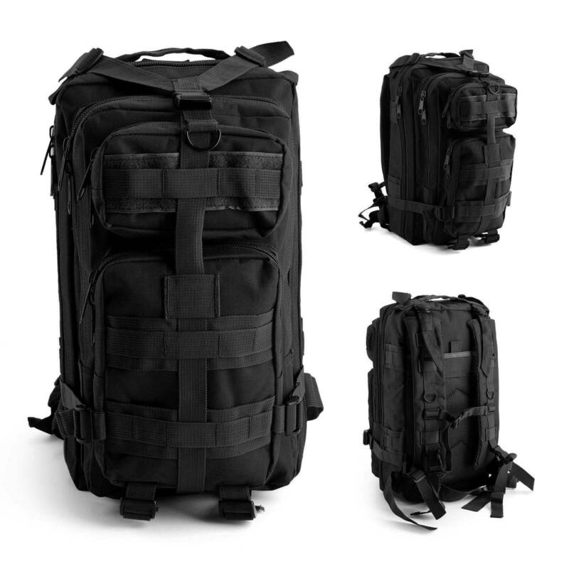 30L/40L/50L Military Tactical Army Rucksacks Molle Backpack Camping Hiking Bag 5