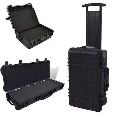 Waterproof Equipment Hard Trolly Carry Transport Case Box Carrier Storage Black 12