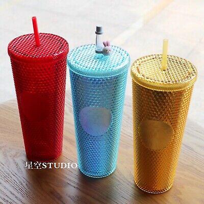Starbucks 2020 China Purple Shinning Diamond Studded 24oz Tumbler STRAW CUP #PSL