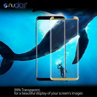 NUGLAS Samsung S10 S9 S8 Plus Note 9 Tempered Glass Full Cover Screen Protector 2