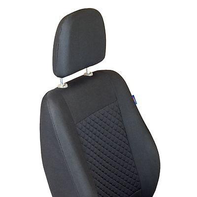 Intensiv Schwarze Sitzbezüge für FIAT DUCATO Autositzbezug SET 1+2