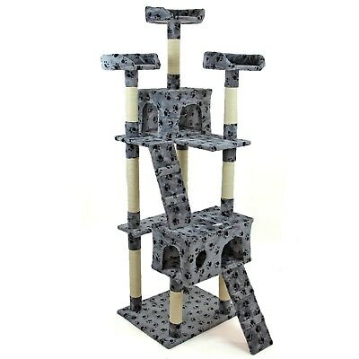 Cat Tree Activity Centre Scratcher Scratching Post Kitten Play Toy Scratch Bed 3