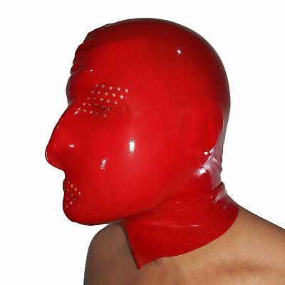 Perforierte Latex Maske aus Rubber in rot, Einheitsgröße 3