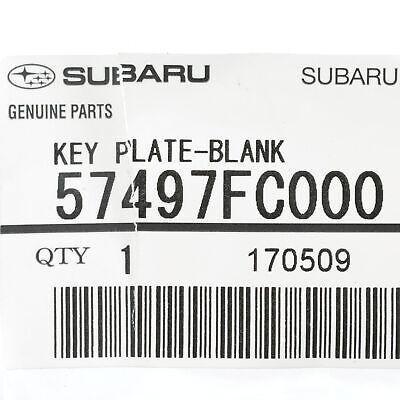 OEM NEW 2004 Genuine Subaru Impreza STI Blank Master Key 57497FE000