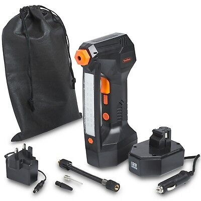 VonHaus Digital Tyre Inflator Cordless Handheld Air Compressor / Automatic Pump 9