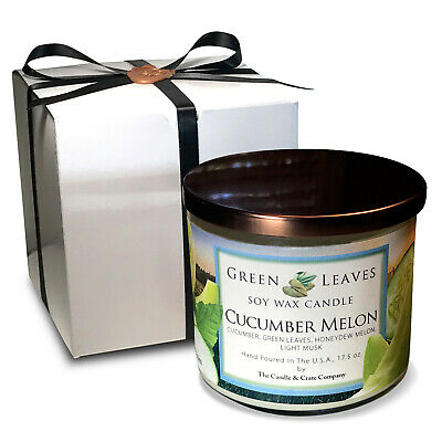 Handmade English Garden All Natural Soy Candle in 17.5oz 3 Wick Free Shipping!