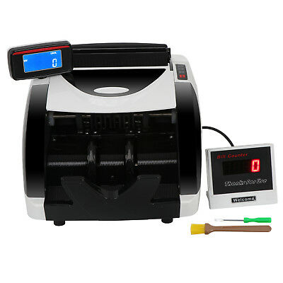 Money Counter Bill Cash Currency Counting Machine UV MG Counterfeit Detector USD 4
