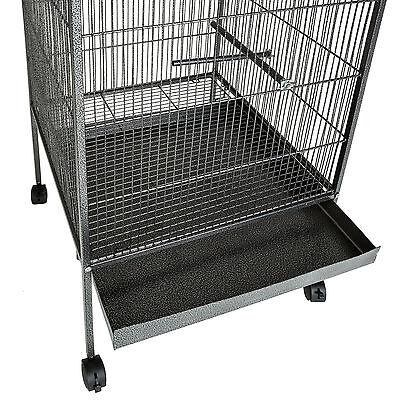 Volière cage à oiseaux canaries perruches perroquets metal 146x54x54cm 3