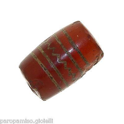 Buddhist Chung gZi Stone  Bead, China Tibet  涌越秀石珠  (0384) 3
