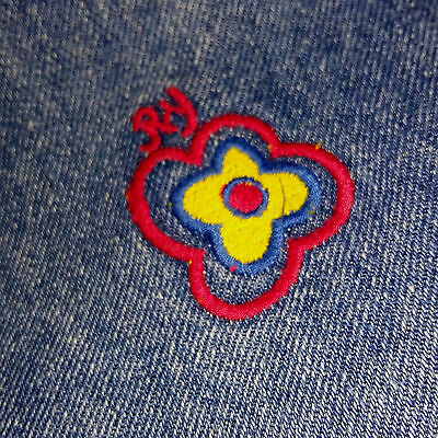 Vintage Girls 1970's Denim/Embroidered Waistcoat by RANCH YAEL. Age 16.