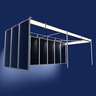 Messestand Günstig  Eckstand 3x4 Meter Modularsystem Messebausystem  Stand-9