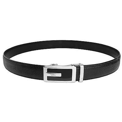 Falari® Men's Genuine Leather Dress Ratchet Belt 35mm Adjustable Size 7013 3