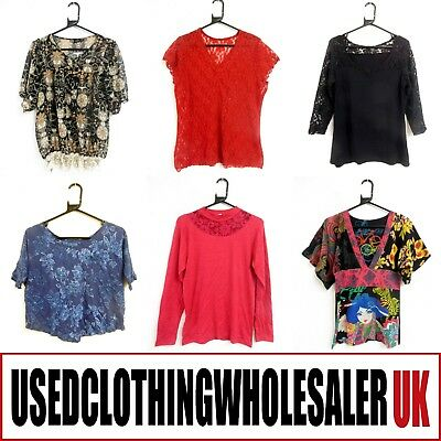 50 Women's Grade A Mixed Tops Blouses Used Clothes Wholesale Job Lot Second Hand 2