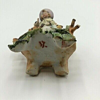 Antique Miniature Bisque Figurine Boy Kite Hand Painted 6