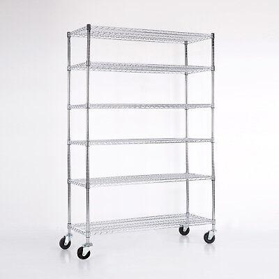 """3/4/5/6 Tier Heavy Duty 82""""x48""""x18"""" Wire Shelving Rack Steel Shelf Adjustable 2"""