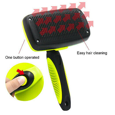 Self Cleaning Pet Dog Cat Slicker Brush Grooming For Medium And Long Hair Pets 3