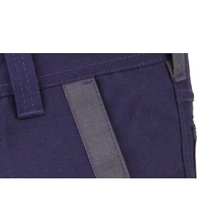 CARGO PANTS Work Trousers BigBEE KNEE POCKET Cotton Drill 3M REFLECTIVE UPF 50+ 6