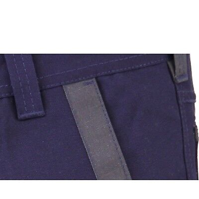 Mens WORK CARGO PANTS TROUSERS,KNEE POCKETS,Cotton Drill,3M REFLECTIVE,TRADIE 4