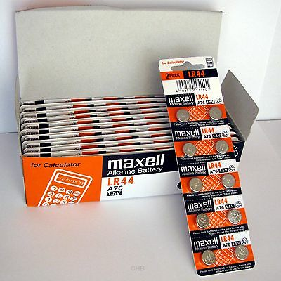 20 New Lr44 Maxell A76 L1154 Ag13 357 Sr44 303 Battery