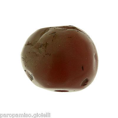 Rare Round Buddhist  Pema Raka (Nan Hong) Bead,China-Tibet.古色古香的圆形玛瑙石 (0694))
