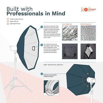 150cm Octabox & Grid | Bowens | LuxLight® | Photo Studio Flash Softbox Octobox 3