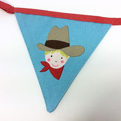 Wild West Girlande Wimpelkette Cowboy Sheriff Westernparty Deko Fahnenkette 10m