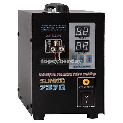 737G Spot Welder 110V 1.5KW Battery Spot Welding Machine LED Light for 18650 2
