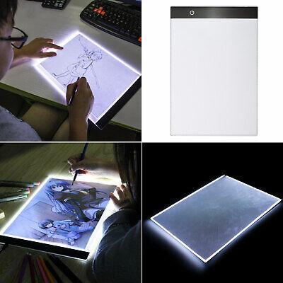 A4 USB LED Artist Tattoo Stencil Board Light Box Tracing Drawing Board Pad Table 2