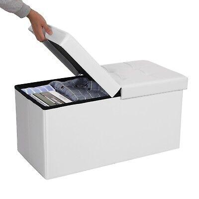 Faltbar Sitzhocker Sitztruhe Sitzwürfel Truhenbank Aufbewahrungsbox Truhen 76 cm