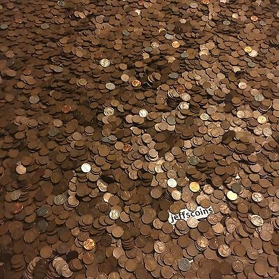 ✯1Lb Pound Unsearched Wheat Cents Lincoln Pennies✯Estate Sale Coins Lot✯1909-58✯ 5