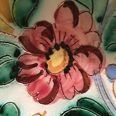 Stunning Antique / Vintage Hand Crafted & Painted Italian Centerpiece Dish 25 cm 7