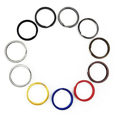 Split key rings 30 mm double loop keying metal clasp connect UK SELLER 3