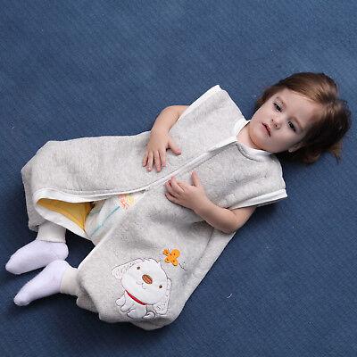 Baby Toddler Kids 100% Cotton Wearable Organic Blanket Sleeping Bag Winter Wrap 7
