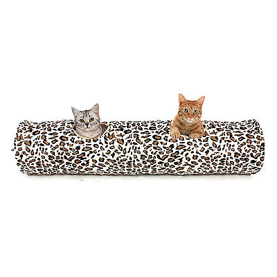Pet Cat Toys Tunnel Leopard Print Crinkle Toys Cat Collapsible Tunnels 4 Styles