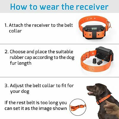 1/2/3 Dog Shock Training Collar With Remote Rechargeable IP67 For Large 880 Yard 6