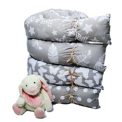 Bettschlange Bettrolle Nestchen Nestchenschlange Nackenrolle 100/% Baumwolle NEU