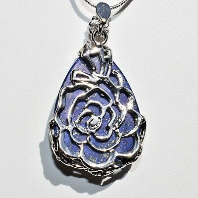 "Perfect Pendant™ - Lapis Lazuli Teardrop Pendant + 20"" Chain: ZENERGY GEMS™ 2"