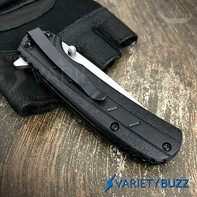 2 PC TACTICAL SPRING ASSISTED POCKET KNIFE EDC Military Combat Folding Blade NEW 7