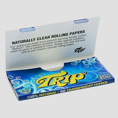 Trip Clear Rolling Papers 1 1/4 Trip 2 Buy 4@$1.89/PK 50/Lvs/Pack Fast Shipper 3