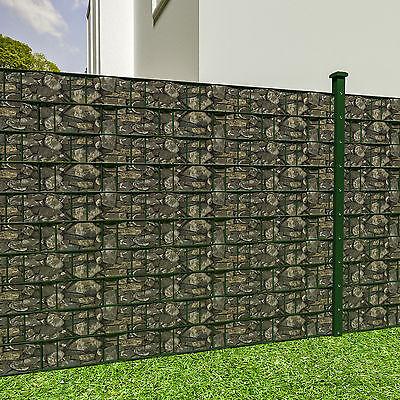 Sichtschutz doppelstabmatten steinoptik