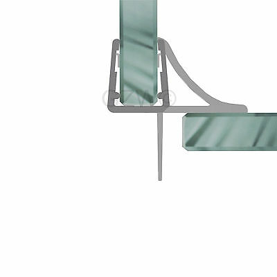 Duschdichtung Wasserabweiser Duschprofil Streifdichtung Schwall 5-8 mm, 20cm-2m 3