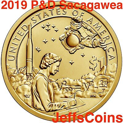 2019 P D SACAGAWEA NATIVE AMERICAN Indians In The Space Program Dollar Set s PD 2